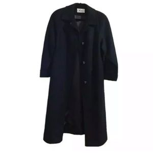 Modes Me-Jay Montreal Vintage Wool Navy Long Coat